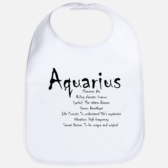 Aquarius Traits Cotton Baby Bib