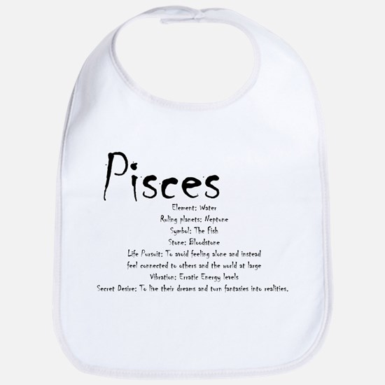 Pisces Traits Cotton Baby Bib