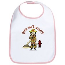 Firefighter Girl Bib