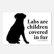 LabsChildrenFur Postcards (Package of 8)
