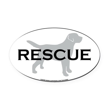 RescueOval Oval Car Magnet