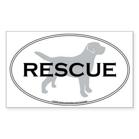 RescueOval Sticker (Rectangle)