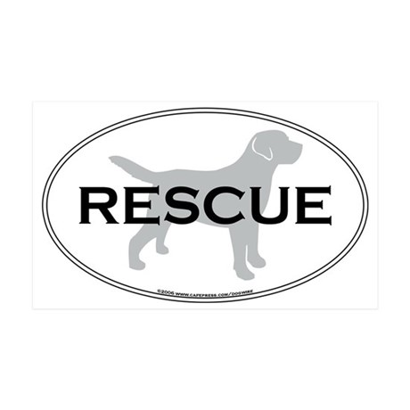 RescueOval 35x21 Wall Decal