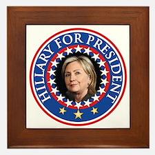 Hillary for President - Presidential Seal Framed T