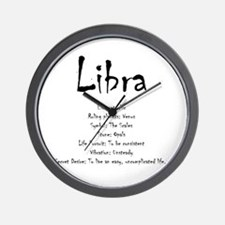Libra Traits Wall Clock