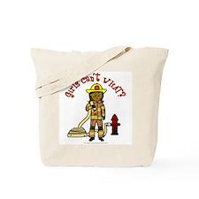 Girl Firefighter Tote Bag