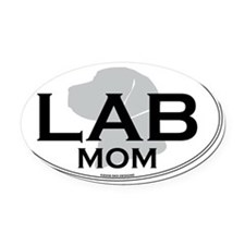 LABMOM Oval Car Magnet