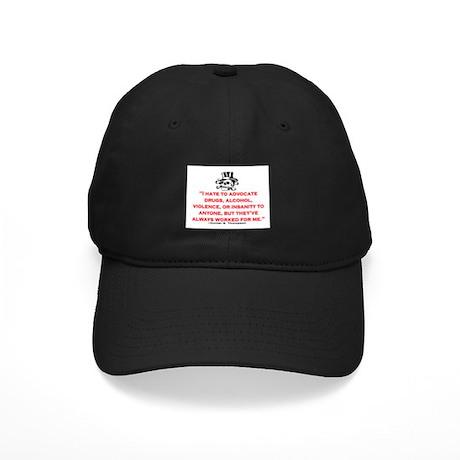 HUNTER S. THOMPSON QUOTE (ORIG) Black Cap