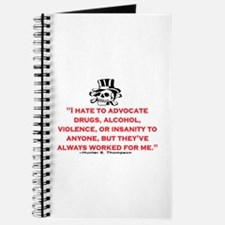 HUNTER S. THOMPSON QUOTE (ORIG) Journal