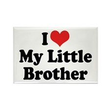 I Love My Little Brother Rectangle Magnet (10 pack