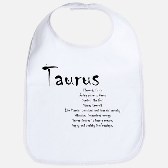 Taurus Traits Cotton Baby Bib