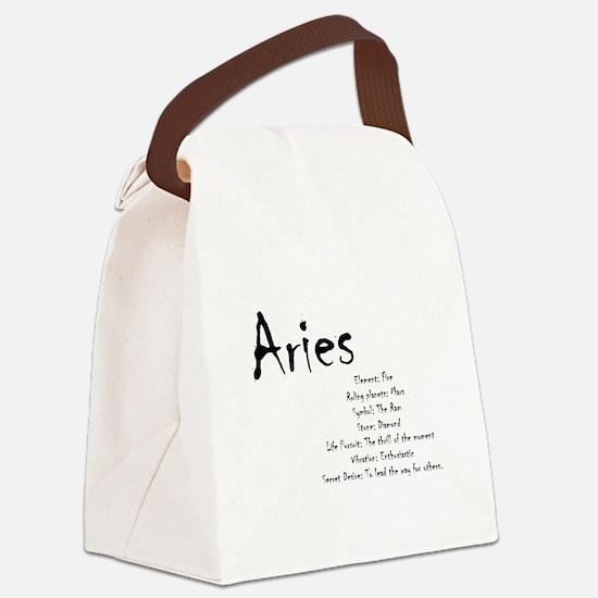 Aries Traits Canvas Lunch Bag