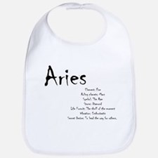 Aries Traits Cotton Baby Bib