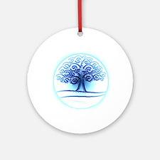 Wicca Pentagram Ornament (Round)