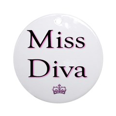 Miss Diva Ornament (Round)