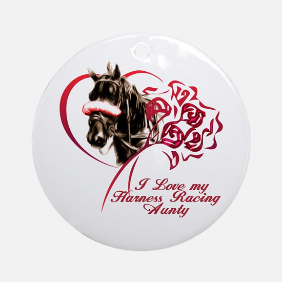 Love Harness Aunty Ornament (Round)