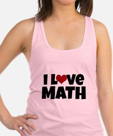 I Love Math Racerback Tank Top
