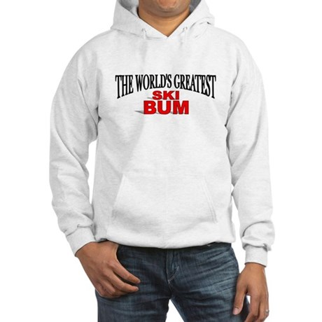 """The World's Greatest Ski Bum"" Hooded Sweatshirt"