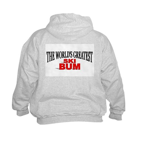 """The World's Greatest Ski Bum"" Kids Hoodie"