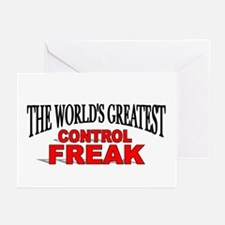 """The World's Greatest Control Freak"" Greeting Card"
