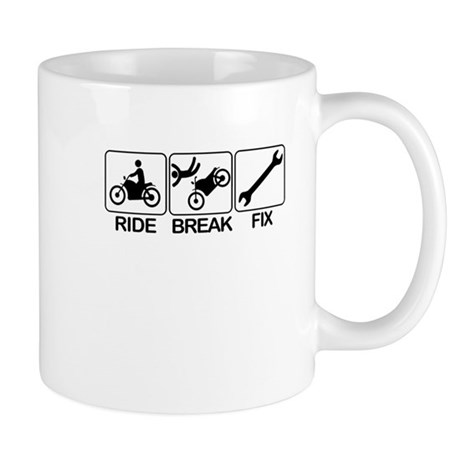 Ride, Break, Fix. Motorcycle Mug
