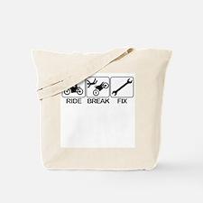 Ride, Break, Fix. Motorcycle  Tote Bag