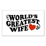 World's Greatest Wife Rectangle Sticker