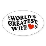 World's Greatest Wife Oval Sticker