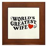 World's Greatest Wife Framed Tile