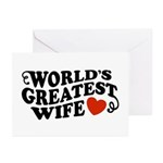 World's Greatest Wife Greeting Cards (Pk of 10