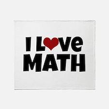 I Love Math Throw Blanket