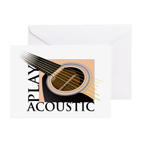 Play Acoustic Greeting Cards (Pk of 10)