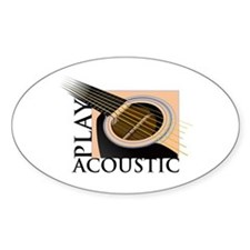 Play Acoustic Oval Decal