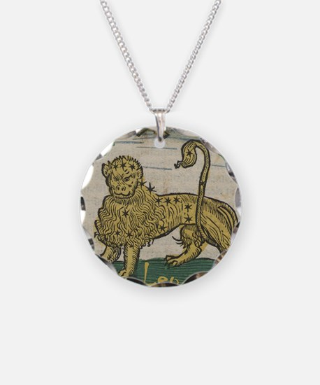 Leo 16th Century Woodcut Necklace