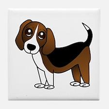 Beagle Cartoon Dog Tile Coaster