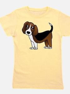 Beagle Cartoon Dog Girl's Tee