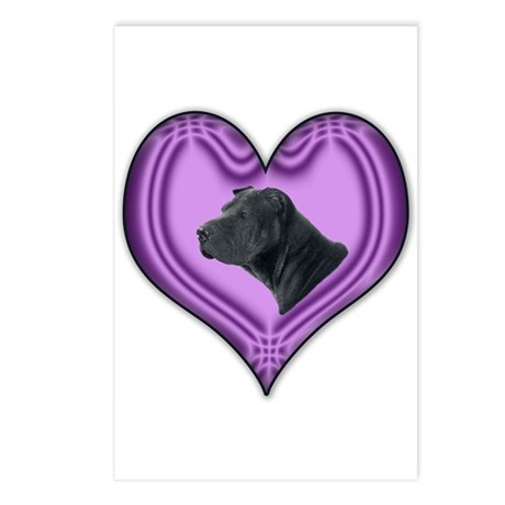 Shar Pei Heart Postcards (Package of 8)