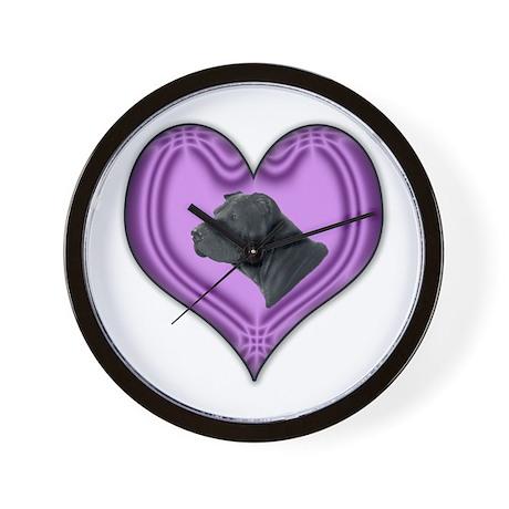 Shar Pei Heart Wall Clock