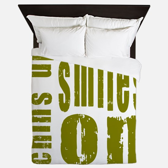 Chins Up Smiles On Queen Duvet