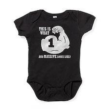 1 Year Old Body Builder Baby Bodysuit