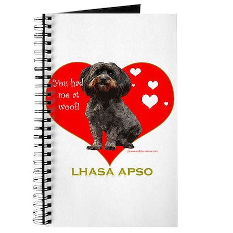 Lhasa Apso Valentine Woof Ebony Journal