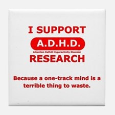Support ADHD Research Tile Coaster