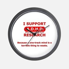 Support ADHD Research Wall Clock