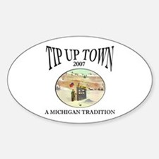 MICHIGAN TIP UP TOWN Oval Decal