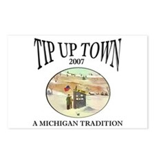 MICHIGAN TIP UP TOWN Postcards (Package of 8)