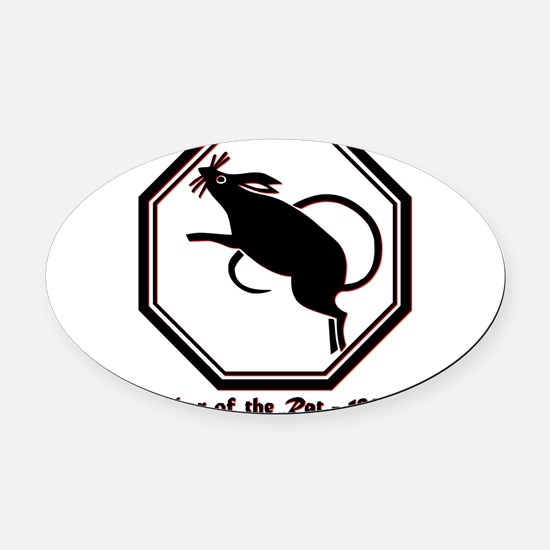Year of the Rat - 1960 Oval Car Magnet