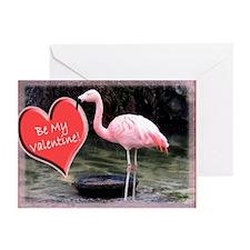 Helaine's Flamingo Valen Greeting Cards (Pk of 10)