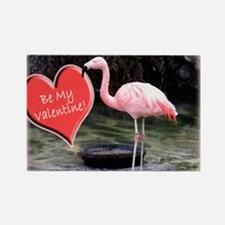 Helaine's Flamingo Valentine Rectangle Magnet