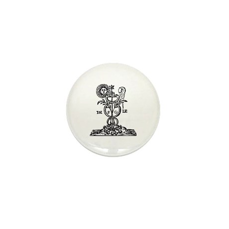 Caduceus Alchemy Symbol Mini Button (100 pack)