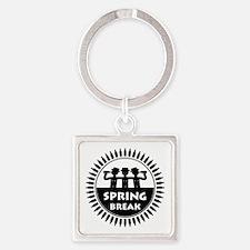 Spring Break (P) Square Keychain